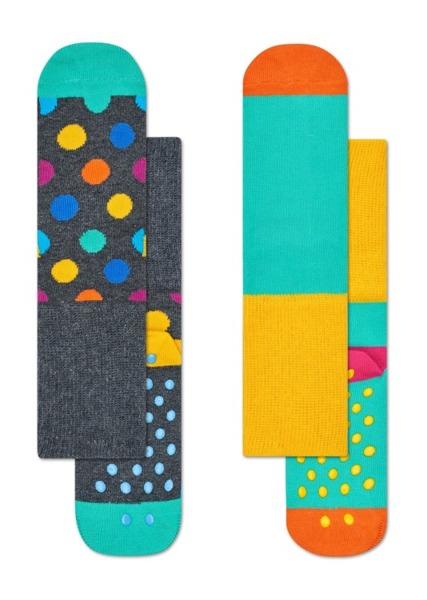 Skarpetki dziecięce antypoślizgowe (2-pak) Happy Socks  KBDO19-9000